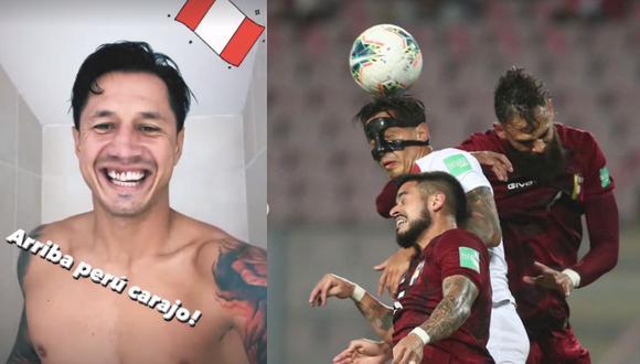 Lapadula recibió un fuerte golpe y falta por parte de Tomás Rincón, jugador de la 'Vinotinto', que comprometió dos de sus dientes. Foto: composición/IG