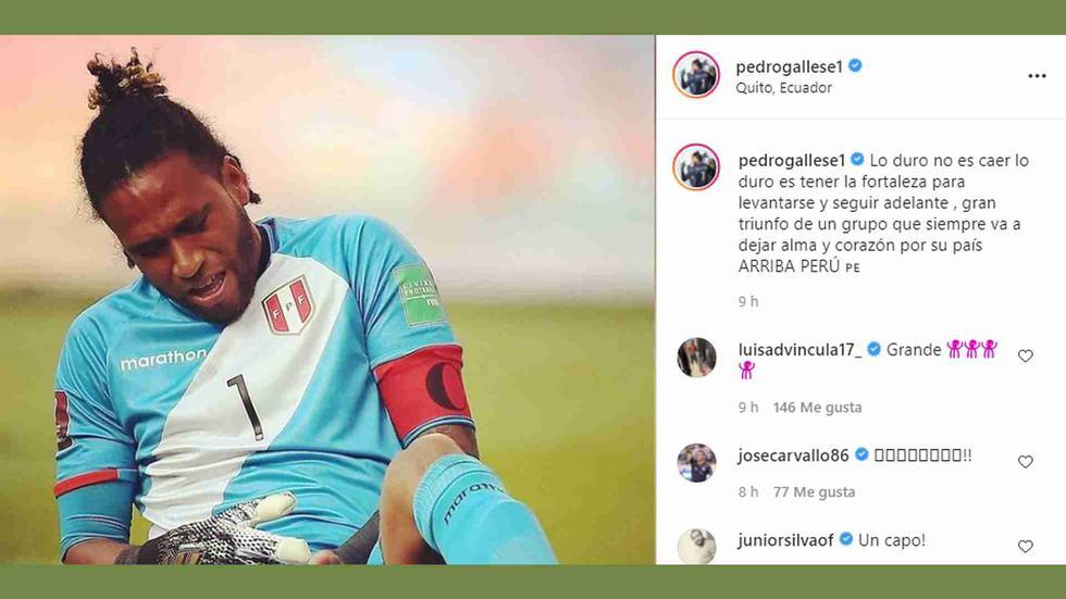 Los jugadores de la selección peruana se pronunciaron en redes sociales luego de ganar 2-1 a Ecuador en Quito por las Eliminatorias. (Foto: Instagram)