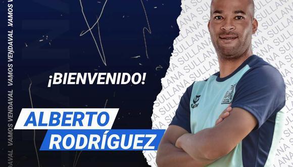 Alianza Atlético anunció el fichaje de Alberto Rodríguez. (Foto: @alianzasullana_)