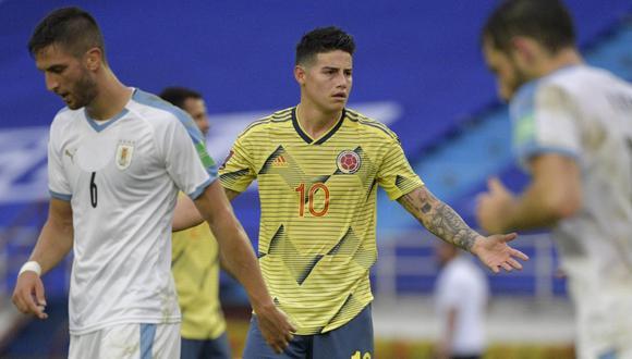 James Rodríguez se manifestó sobre supuestas peleas en el vestuario de Colombia. (Foto: AFP)
