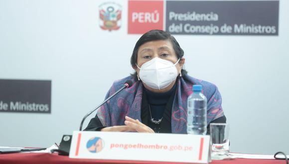 La ministra de la Mujer y Poblaciones Vulnerables, Silvia Loli Espinoza, informó cuántos menores se han visto beneficiados con los S/200 hasta la fecha. (Foto: @MimpPeru)