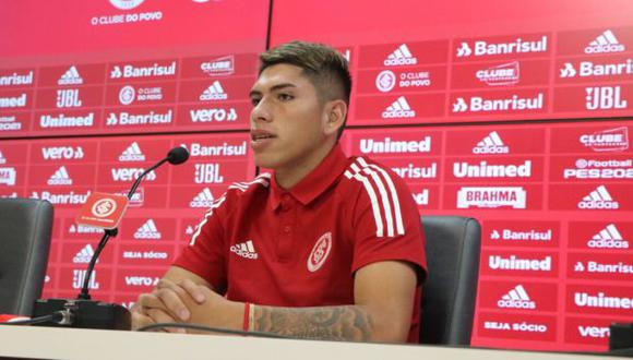 Carlos Palacios estará vinculado a Internacional hasta el final del 2025. (Foto: SC Internacional)
