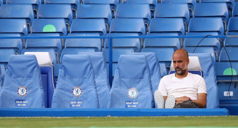 El City de Guardiola cayó 2-1 en campo de Chelsea y quedó sin opciones matemáticas de cara al título de la temporada 2019/2020 del campeonato británico. (Foto: AFP)