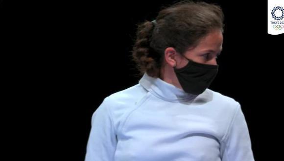 María Luisa Doig perdió en los 16avos en Esgrima en Tokio 2020. (Foto: IPD)