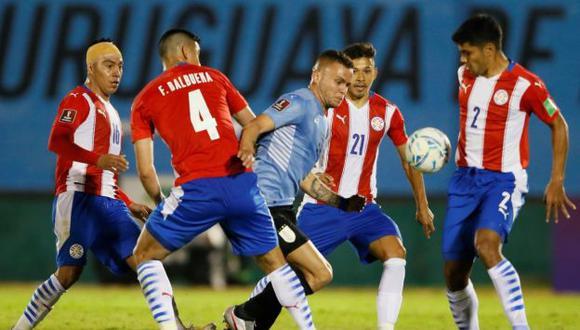 Gol de Uruguay fue mal anulado por posición adelantada a los 23 minutos en el duelo ante Paraguay. (Foto: Agencias)