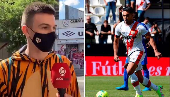 Hincha se disfrazó de tigre para ver a Radamel Falcao. (Foto: Twitter/Composición)