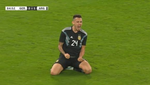 Argentina 2-2 Alemania | Golazo de Lucas Ocampos puso el empate para la albiceleste | VIDEO
