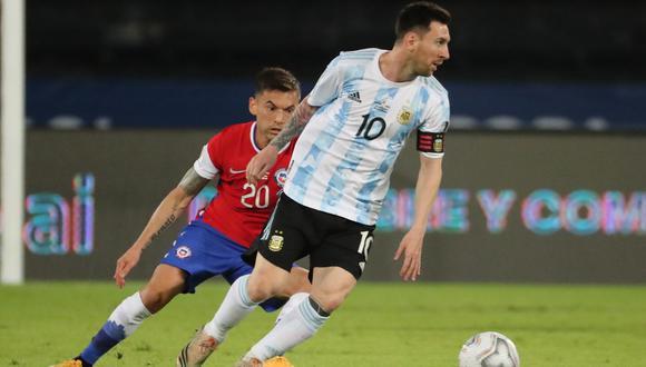 Messi se consuela con empate ante Chile en su estreno en la Copa América 2021  REUTERS/Sergio Moraes