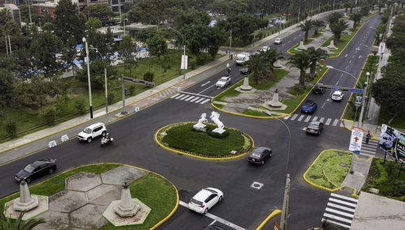 La Municipalidad de Lima ejecutó, a través de Emape, los trabajos de mantenimiento de pistas en la Av. San Borja Norte, entre la Av. Guardia Civil y la carretera Panamericana Sur. (Foto: MML)