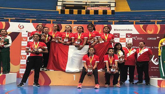 Perú se consagró pentacampeón sudamericano escolar de vóley femenino