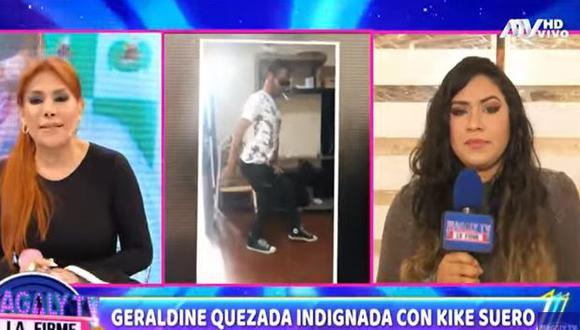 Geraldine Quezada, expareja de Kike Suero, indignada tras conocer que cómico se convertirá en padre nuevamente. (Foto: captura de video)
