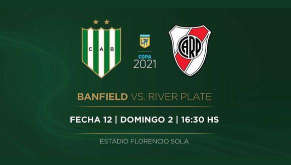 River vs. Banfield EN VIVO | EN DIRECTO por la fecha 12 de la Copa de la Liga argentina horarios y canales de TV para ver este partidazo