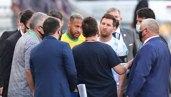 La postura de la Confederación Brasileña de Fútbol tras la suspensión del partido. (Foto: AFP)