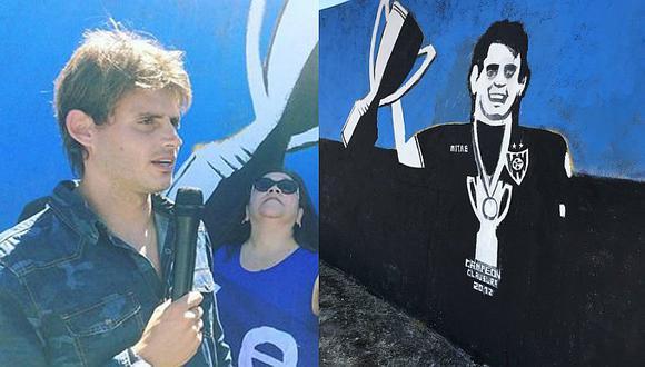 Sporting Cristal: Omar Merlo fue despedido de Huachipato con un mural [FOTO]