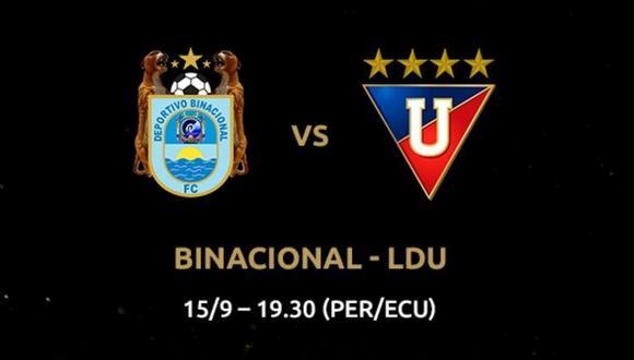 Binacional vs. LDU Quito: fecha, hora y canal del partido por el grupo D de la Copa Libertadores