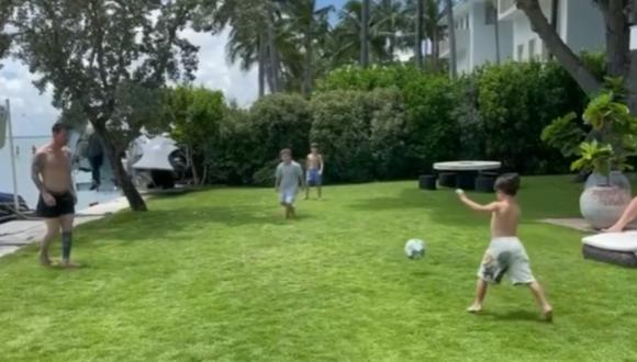 Hijo menor de Messi deslumbra con sus habilidades con el balón. Foto: @leomessi