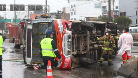 La ATU iniciará un procedimiento administrativo sancionador contra la empresa dueña de la unidad vehicular. (Foto: Gonzalo Córdova/@photo.gec)