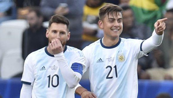 Paulo Dybala es habitual compañero de Lionel Messi en la selección de Argentina. (Foto: AFP)