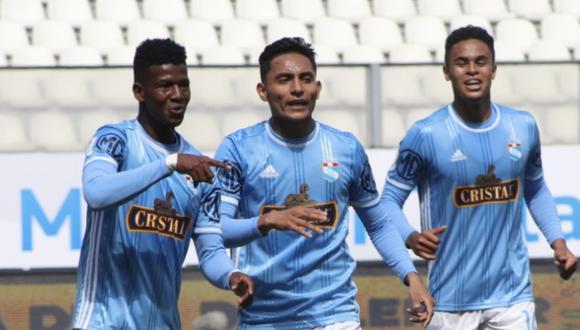 Washington Corozo anotó el 1-0 de Sporting Cristal ante Universitario por la Liga 1 Movistar. FOTO: Liga 1