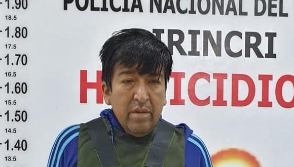 El sindicado sicario William Edwin Reyes Zanabria dijo a la Policía que no conocía a la víctima.