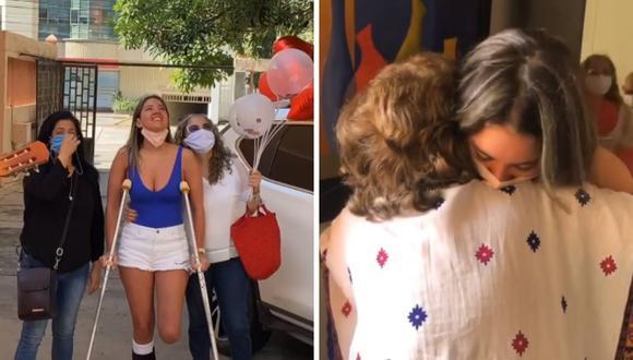Daniella Álvarez señaló que sus abuelos la pasaron mal luego por la noticia de la amputación de su pierna. (Foto: Instagram / @danielaalvareztv).