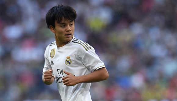 Takefusa Kubo llegó al Real Madrid procedente del Tokyo F.C. (Foto: AFP)