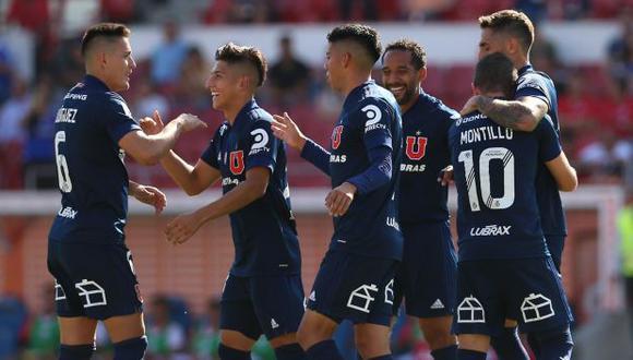 Con gol de Joaquín Larrivey para los Azules y un tanto de Juan Cuevas par Everton, ambos clubes empataron 1 a 1 en Viña del Mar (Foto: Universidad de Chile)