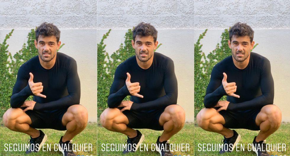 Luis Aguiar y su entrenamiento en casa. (Instagram)