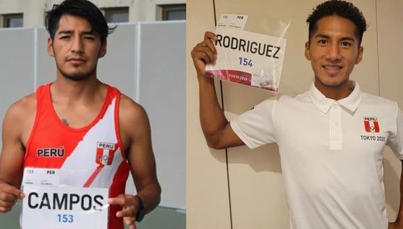 César Rodríguez y Luis Henry Campos compitieron en 20 km. marcha en Tokio 2020. (Foto: IPD)