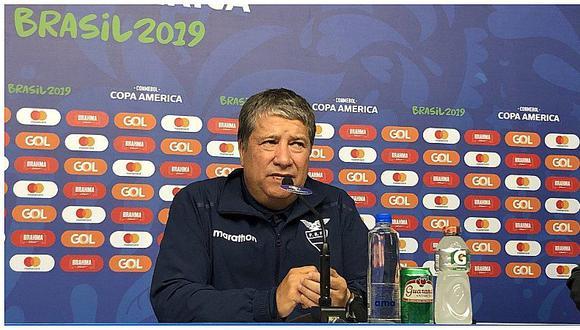 Copa América 2019 | Ecuador: Bolillo Gómez hizo conferencia de un minuto y arremetió contra sus jugadores | VIDEO