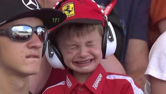 Fórmula 1: este niño de 6 años se robó el show