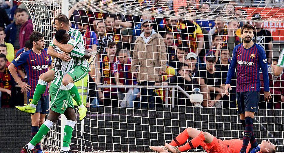 Betis venció 3-4 a Barcelona y así marcha la tabla de La Liga Santander