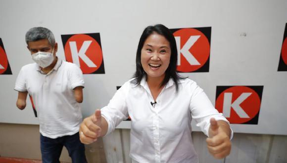 Keiko Fujimori envió un mensaje a Pedro Castillo, quien será su adversario en la Segunda Vuelta de las Elecciones 2021. (Giancarlo Ávila/GEC)