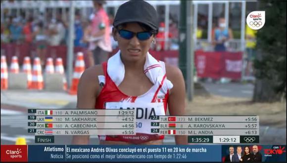 Mary Luz Andía fue la mejor posicionada, terminando en el puesto 24. (Foto: Marca Claro)