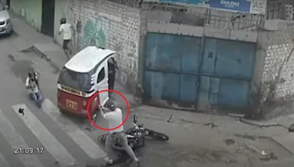 Suboficial de tercera que, vestido de civil, abatió a un delincuente y dejó herido a su cómplice. (Captura: Buenos Días Perú)