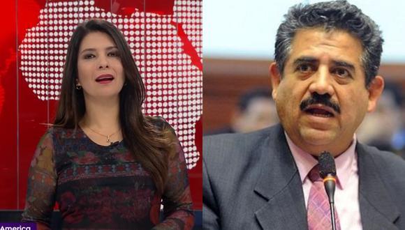La periodista Angelica Valdez realizaba una serie de preguntas al presidente del congreso de la República, Manuel Merino cuando de pronto este terminó la llamada