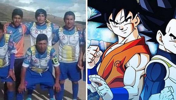 Equipo de Copa Perú rindió honor a 'Dragon Ball' con insólito uniforme [FOTO]