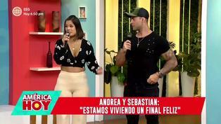 Andrea San Martín y Sebastián Lizarzaburu: se presentaron en TV y aclararon su relación