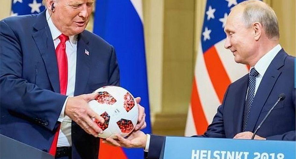 Vladimir Putin regala a Donald Trump pelota de Mundial Rusia 2018