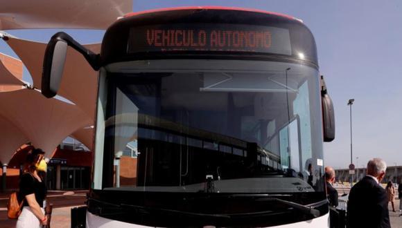 Primer autobús sin conductor en Málaga operará en el día a día.