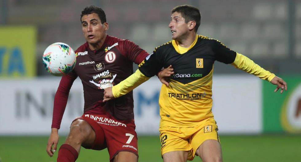 En el reinicio de la Liga 1, Universitario y la Academia Cantolao empataron sin goles en el Estadio Nacional. FOTO: Universitario