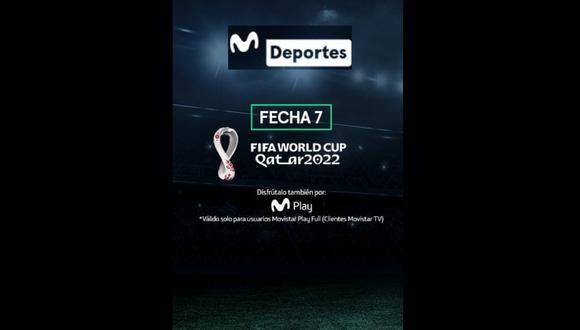 EN VIVO y EN DIRECTO por la señal de Movistar Deportes (Canal 3)   Mira la programación de la fecha 7 de las Eliminatorias Sudamericanas a Qatar 2022.
