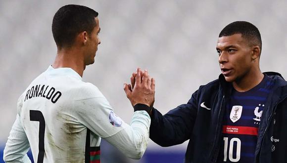 Kylian Mbappé no podrá enfrentar a Cristiano Ronaldo por Liga de Naciones. (Foto: AFP)