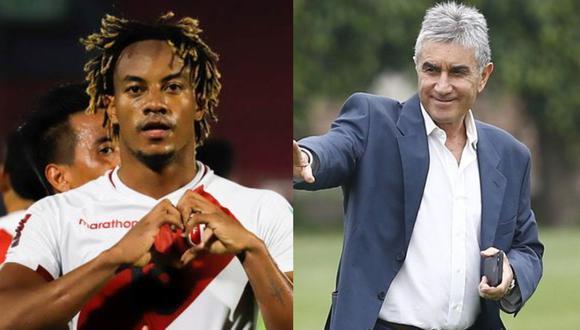 """André Carrillo le respondió a Juan Carlos Oblitas, luego de que declarara que el futbolista debería """"debería estar en Real Madrid o Manchester City"""""""