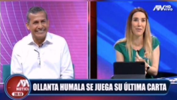 Ollanta Humala, candidato a la presidencia por el Partido Nacionalista le hizo esa pregunta a Juliana Oxenford. (Captura ATV)