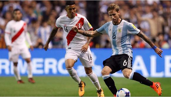 La última vez que Lucas Biglia jugó en la Bombonera fue el 2017 ante Perú.