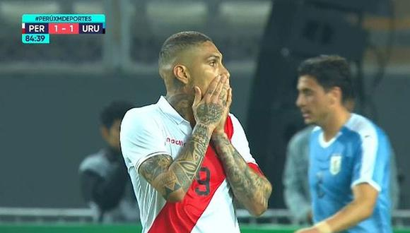 Perú vs. Uruguay | Carlos Ascues y una gran jugada que casi acaba en gol de Paolo Guerrero [VIDEO]