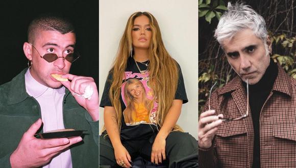 Bad Bunny, Karol G y Alejandro Fernández actuarán en los Latin Grammy. (Foto: @alexoficial/@karolg/@latingrammys)