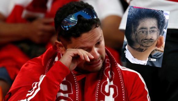 Fanático de la selección peruana se cortó el cabello con el rostro de Lapadula y el resultado no fue lo que esperaba