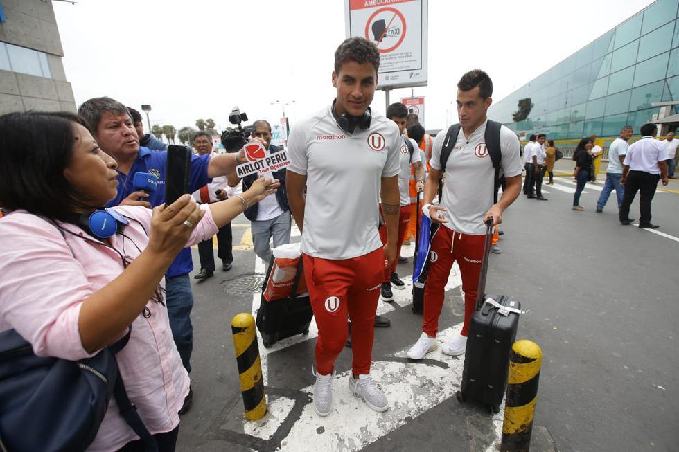 Universitario de Deportes llegó a Lima para preparar su partido de presentación en la 'Noche Crema'. Fotos: Jesús Saucedo / GEC